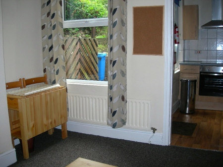 Dining area through to kitchen